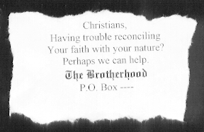 Advocate ad for The Brotherhood